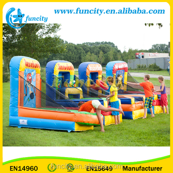 Different Type Inflatable Ball Games , Inflatable Carnival Games