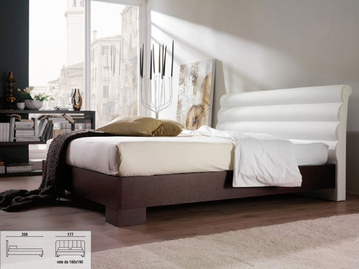Upholstered Bed Fabrics or Eco Leather Cover Bed