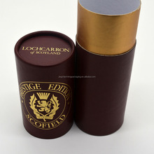 Custom Design Luxury Paper Cardboard Cylinder Tubes Gift Packaging Round Box