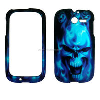 Melting Skull Blue waterproof cell phone case for Huawei Ascend Y M866 [ free screen protector ]