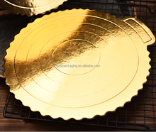 Food grade gold color mousse card board paper cake circle