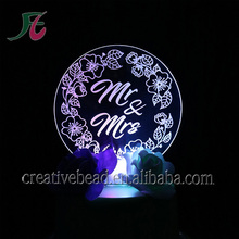 Party Decoration Event & Party Item Type and Event & Party Supplies Type wedding Led cake toppers for bride and groom