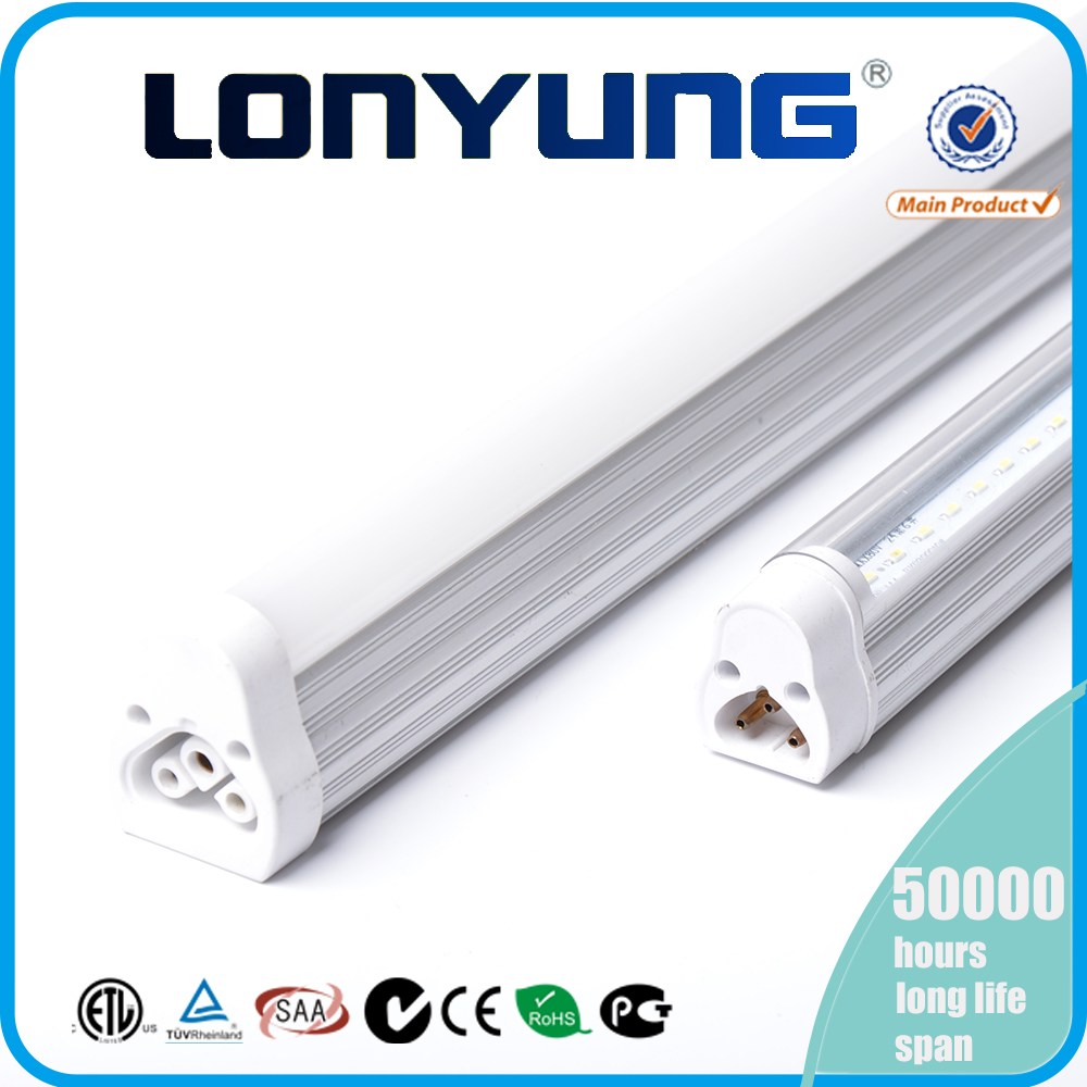 super slim uniform light no strobe single T5 integrated led tube light fixture