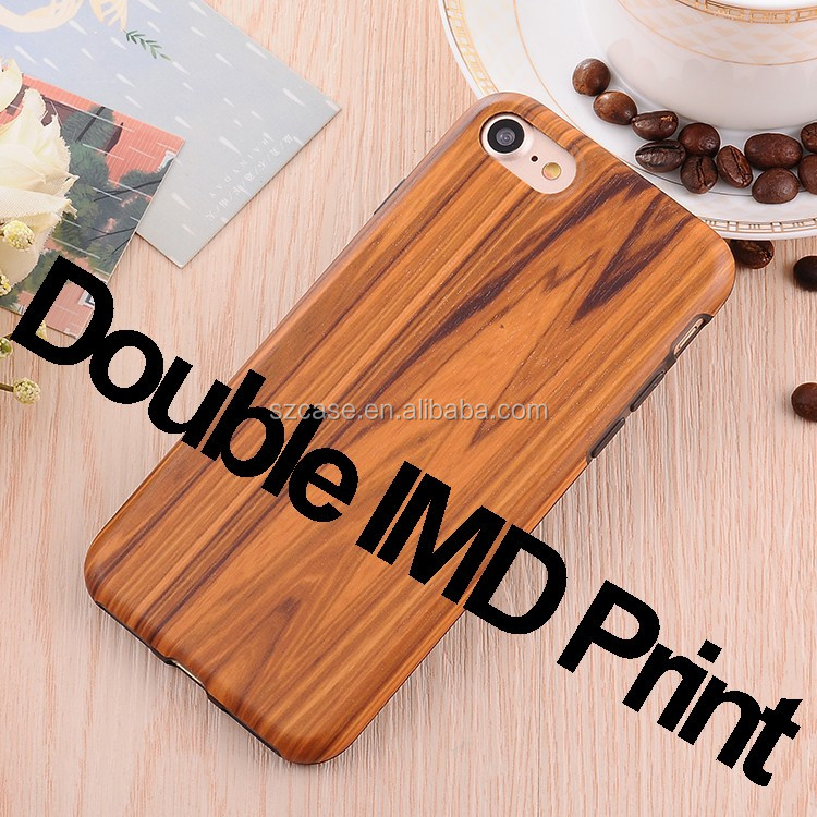 Manufacture Supplier Wholesale Customized Slim Wood Pattern Soft IMD Cell Phone Case For Iphone 6