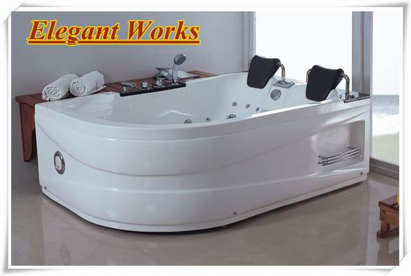 Two person hydrotherapy portable small freestanding whirlpool bathtub indoor spa bath