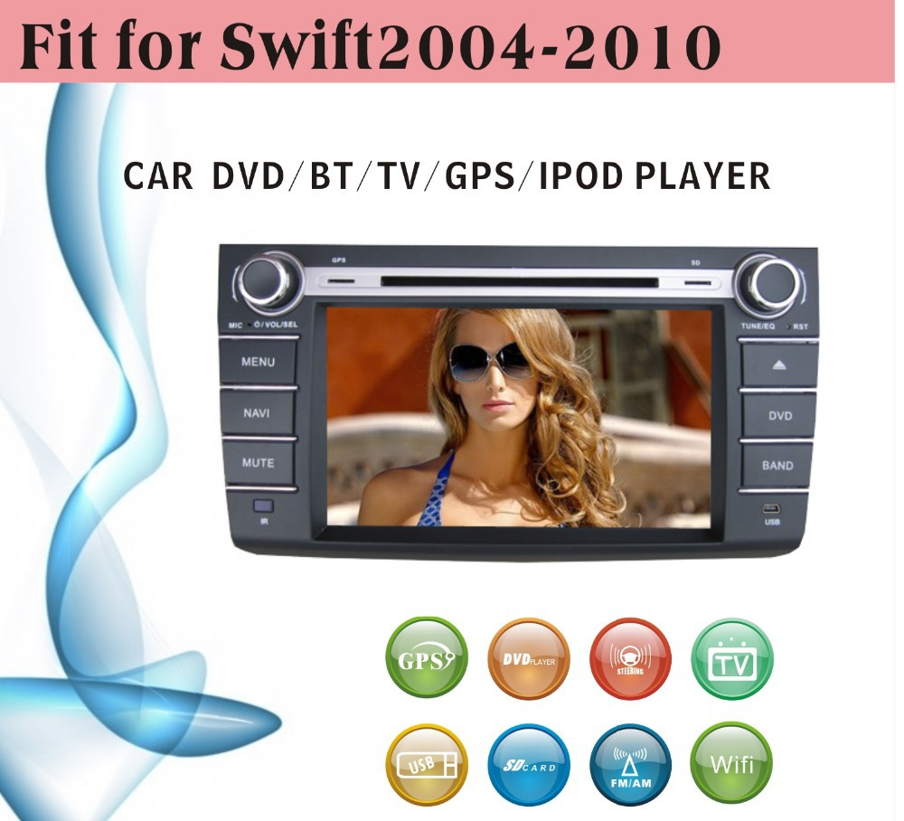 car dvd gps 2 din fit for Suzuki Swift 2004 - 2010 with radio bluetooth gps tv