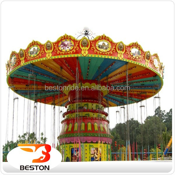 Outdoor Family Game In Park Wave Swinger Amusement Rides Flying Chair