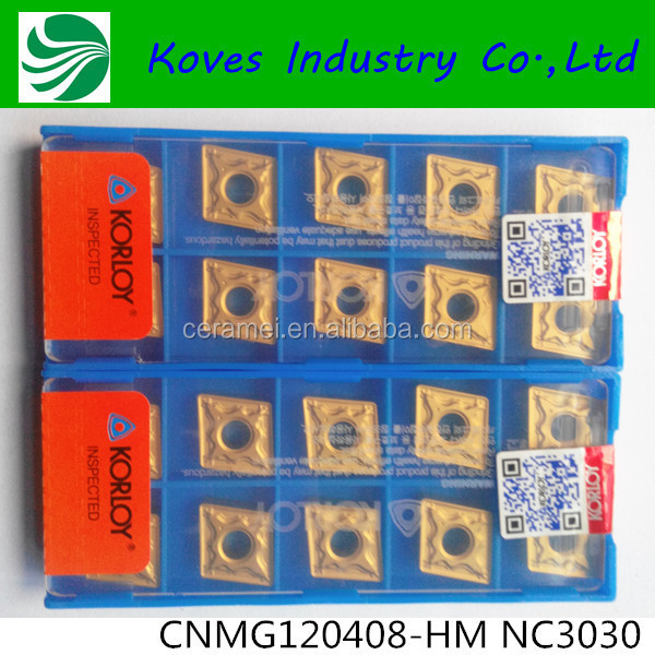 Korloy CNC Machine mold soild turning carbide insert with high density CNMG120408