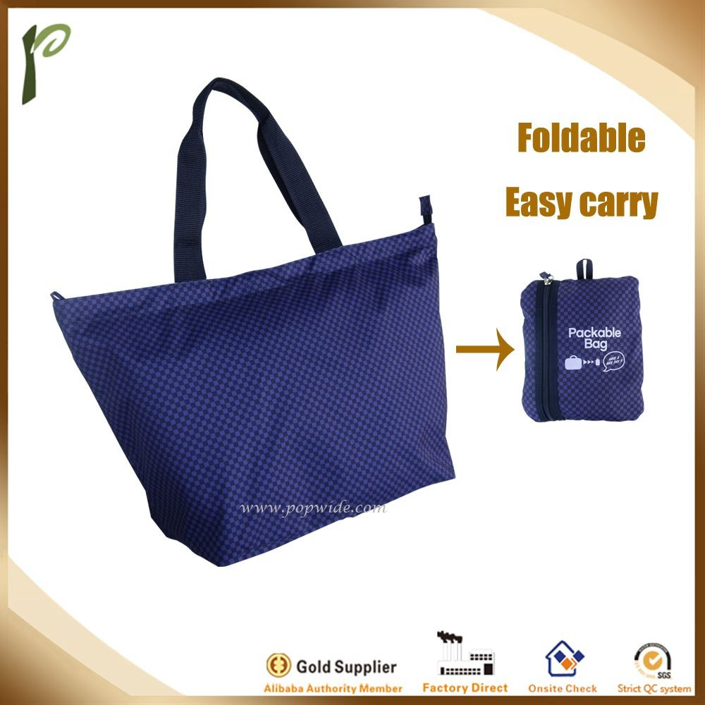 popwide popular Wholesale Reusable foldable shopping tote bag for surpermarket