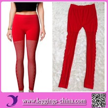 2015(C006)Newest Mesh Design Mature Women Tubes Sexy Ripped Leggings