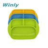 Winly Original Patent Food Grade Baby silicone Dinner Dish Silicone Separate Plate with compartment