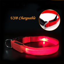 Factory Best Products USB Rechargeable Flashing LED Dog Collar Pet Accessory