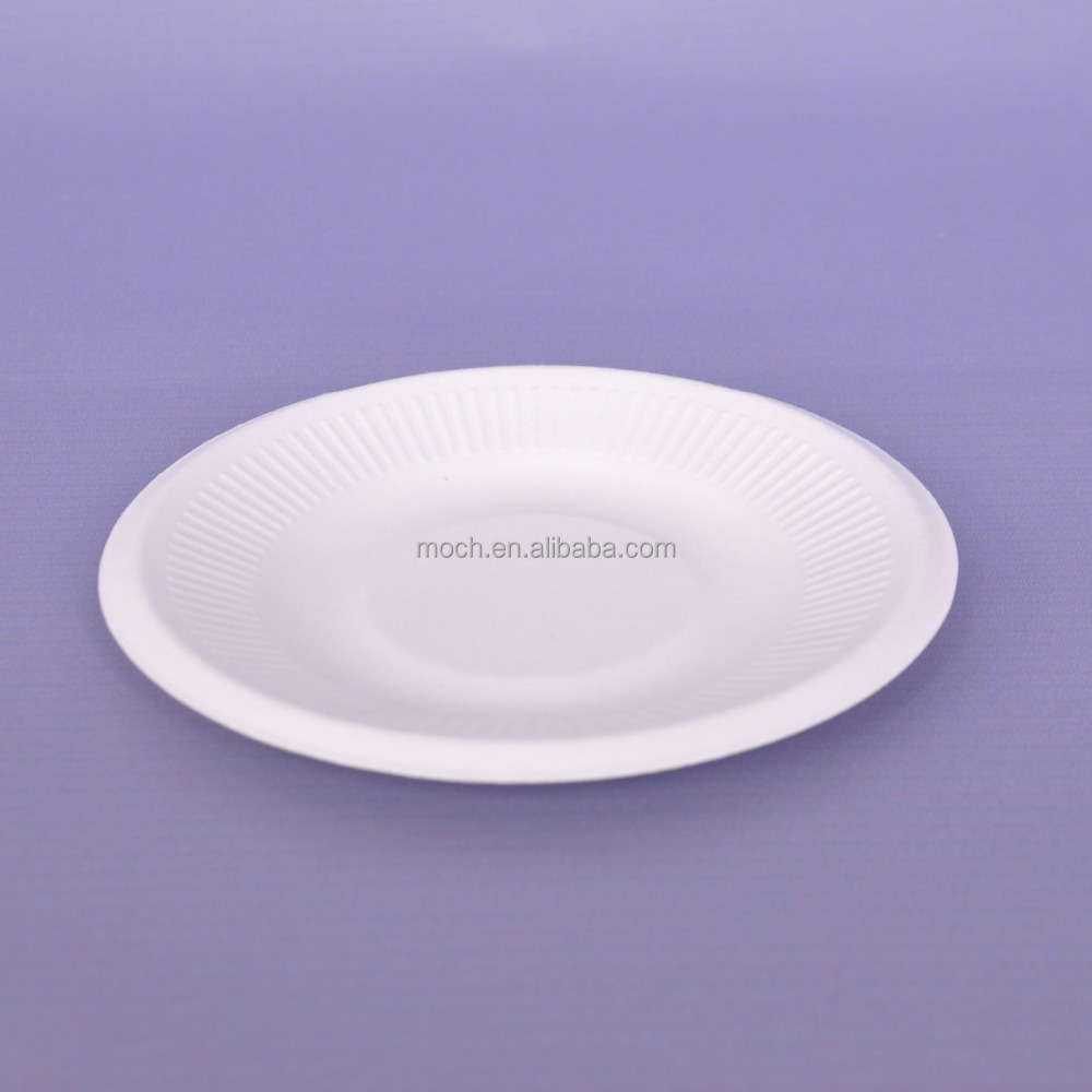 Biodegradable sugarcane plates bagasse disposable paper plate