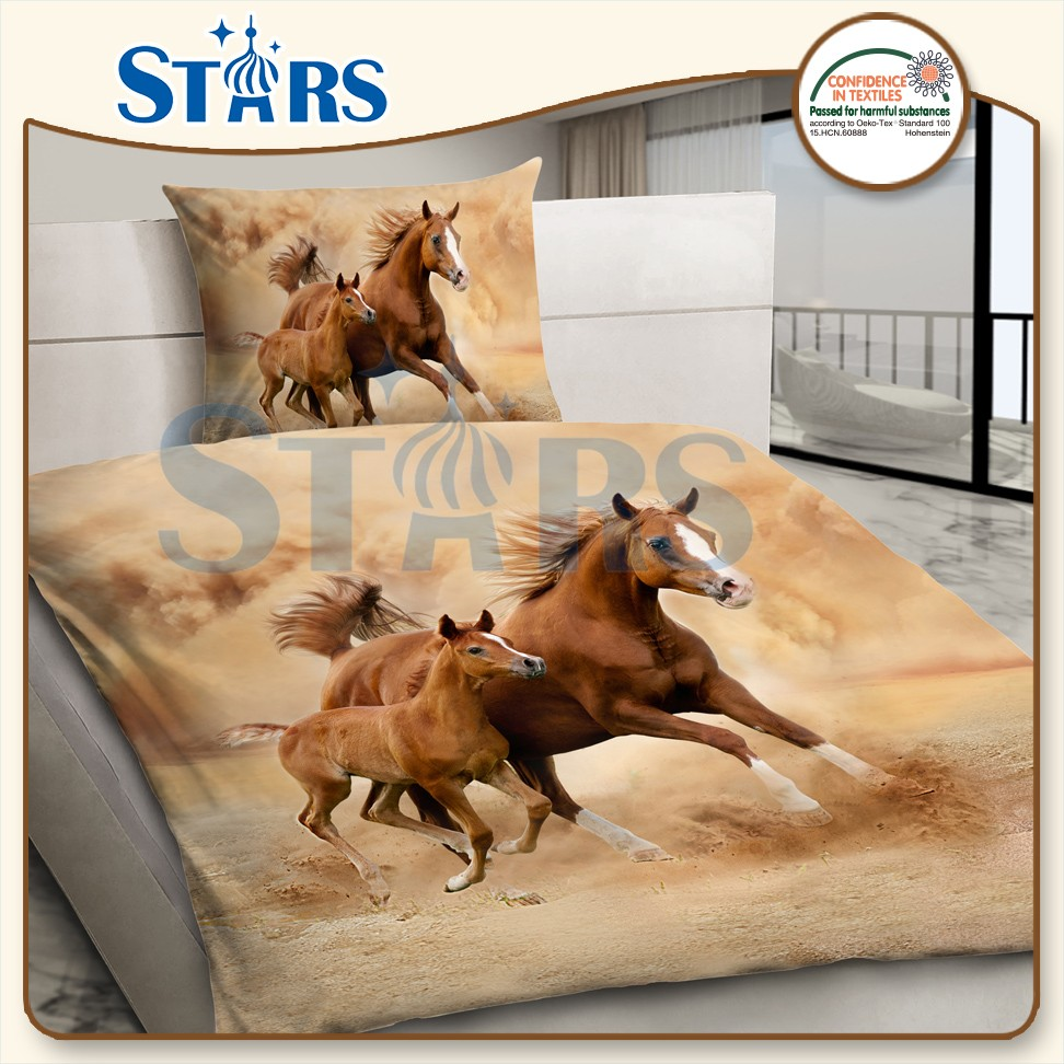 GS-PAN-02 Goostars polyester horse printed 3d duvet cover sets bedding