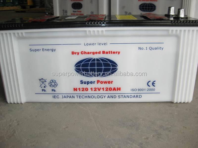 N120 12V120AH DRY CHARGED BATTERY