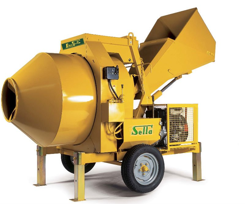 Hydraulic concrete mixer mod. HOPPER type S520 Electric motor