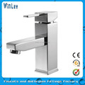 CE Listed Single Lever Water Mixer Chrome Plated Brass Single Handle Water Mixer