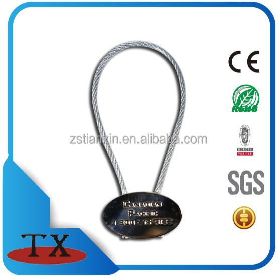 round oval emboss logo wire metal keychain from zhongshan tianxin hardware