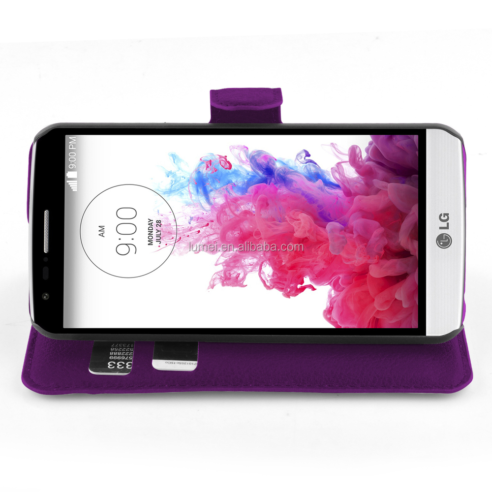 For LG G3 Mini Wallet Leather Flip Stand Case Cover