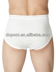 plain white cotton mens underwear boxer briefs