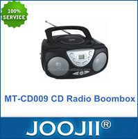 Black Portable CD Radio Boombox CD Player Use For Home FM / AM Radio