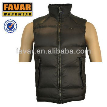 mans sleeveless winter quilted vest duck down vest