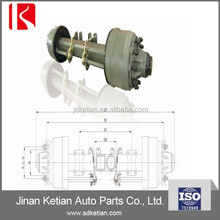 American type low bed wheel rear axles
