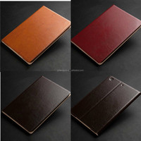 Slim Book style real Leather Case For ipad mini 3/2,for ipad mini 3 samrt case