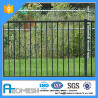 Wholesale & low price galvanized black powder painted panel used aluminum steel fence