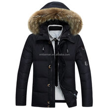 2016 newest Warm Jackets Parka Outerwear Fur lined Winter thicken Coat Hooded mens parka fur