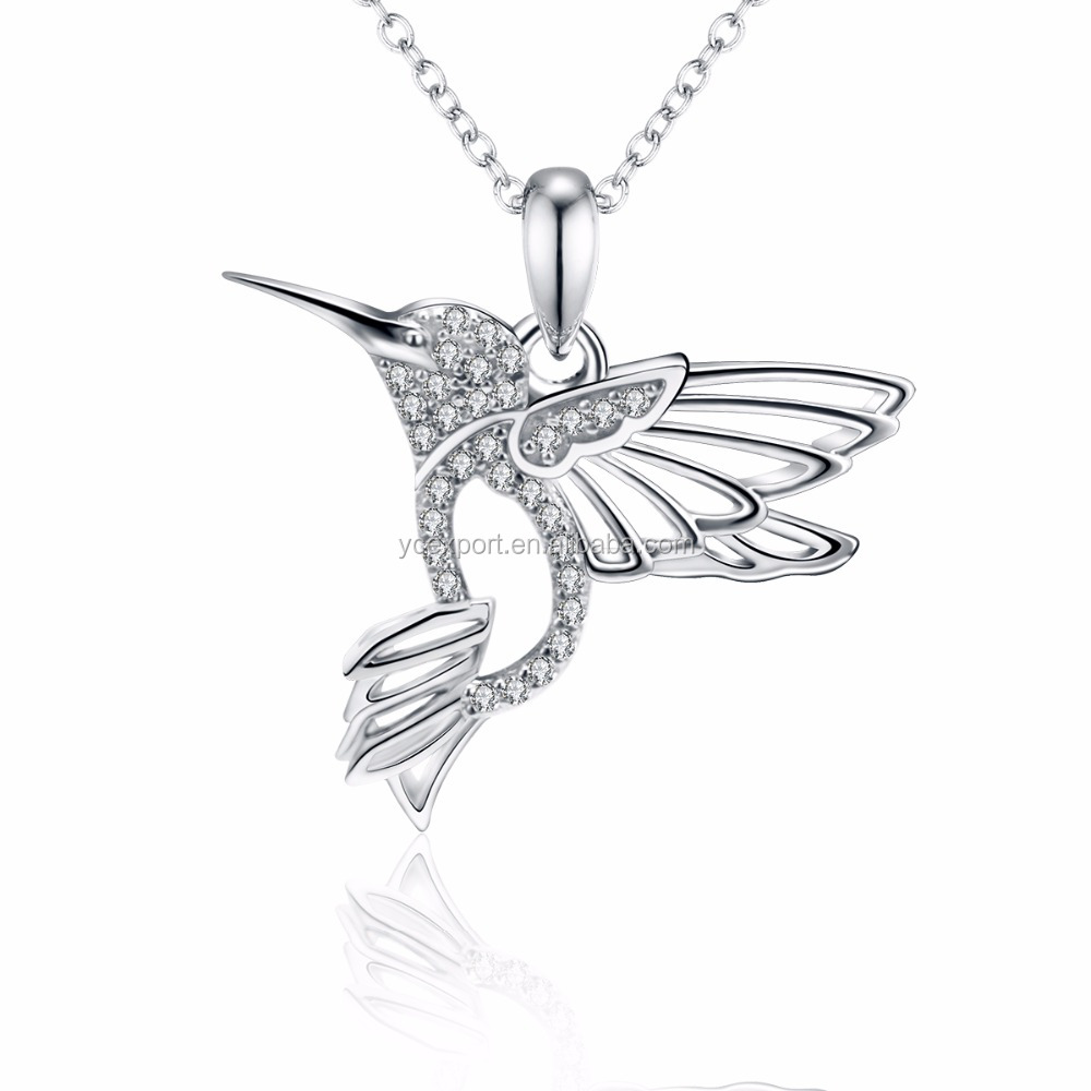 Flybird chain sterling 925 silver necklace jewelries for wowen