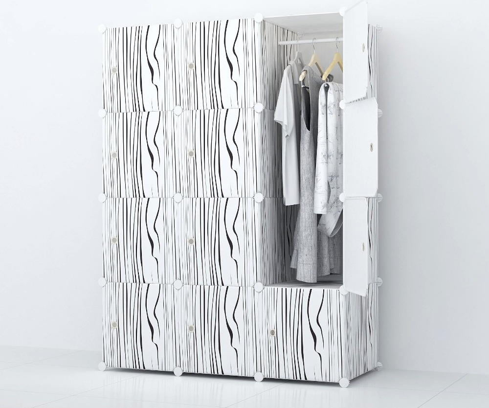 Modern design clothes cabinet cheap plastic clothes wardeobe cabinet