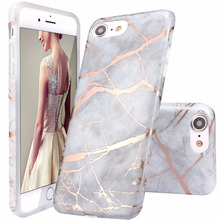 Best Quality Gold White Luxury Thicken Marble Silicone Bumper have pattern TPU Case for iPhone X 8 8Plus 10