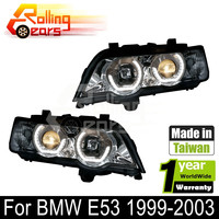 Auto car led headlamp assembly for BMW E53 X5 3.0d 3.0i 4.4i 4.6is 4.8is V8 L6 M54 1999 2000 2001 2002 2003 5 Door SUV SAV