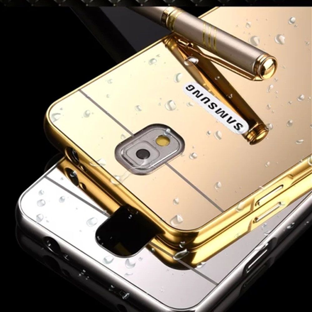 Luxury Aluminum Bumper Metal Frame Mirror Cover Case For Samsung galaxy Note3