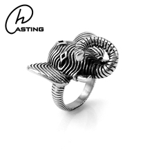 Wholesale Animal Shaped Men Gothic Indian Elephant Rings