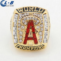 Liaobao CH1150 High Quality Fashion 2002 Los Angeles Angels Gold Plated Hot Sale Championship Ring