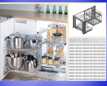 Kitchen cabinet Appliance of Stainless steel Multi-Functional Tall unit Basket