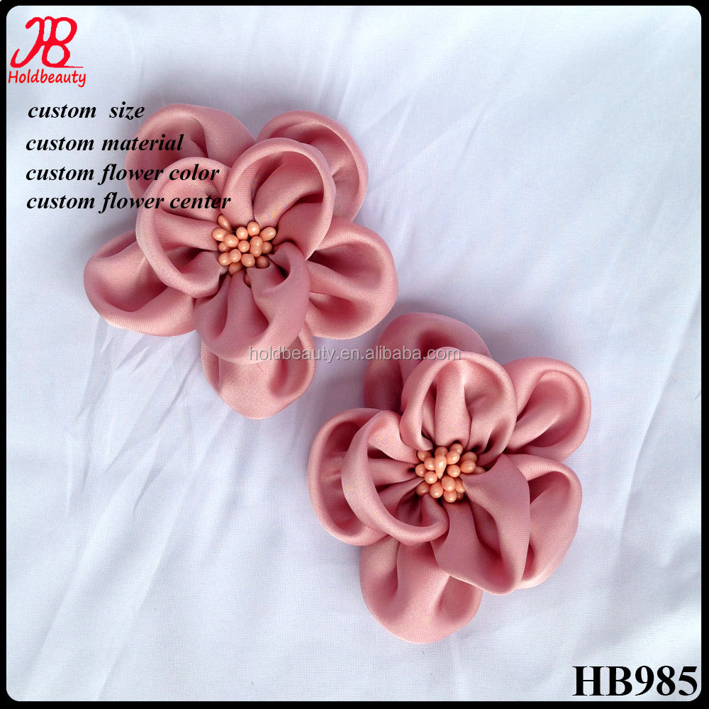 soft satin flower with beads petal for wedding