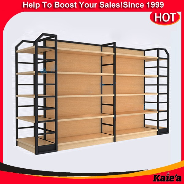 retail store teak wood shelves stand for shops