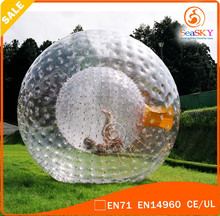 Manufacturers pvc/tpu inflatable zorb balls , half inflatable zorb ball , zorbing ball for water