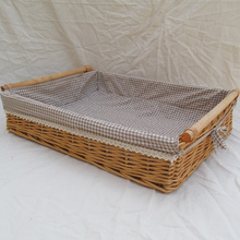 Cheap Hand-made Woven Wicker Tray Food serving trays