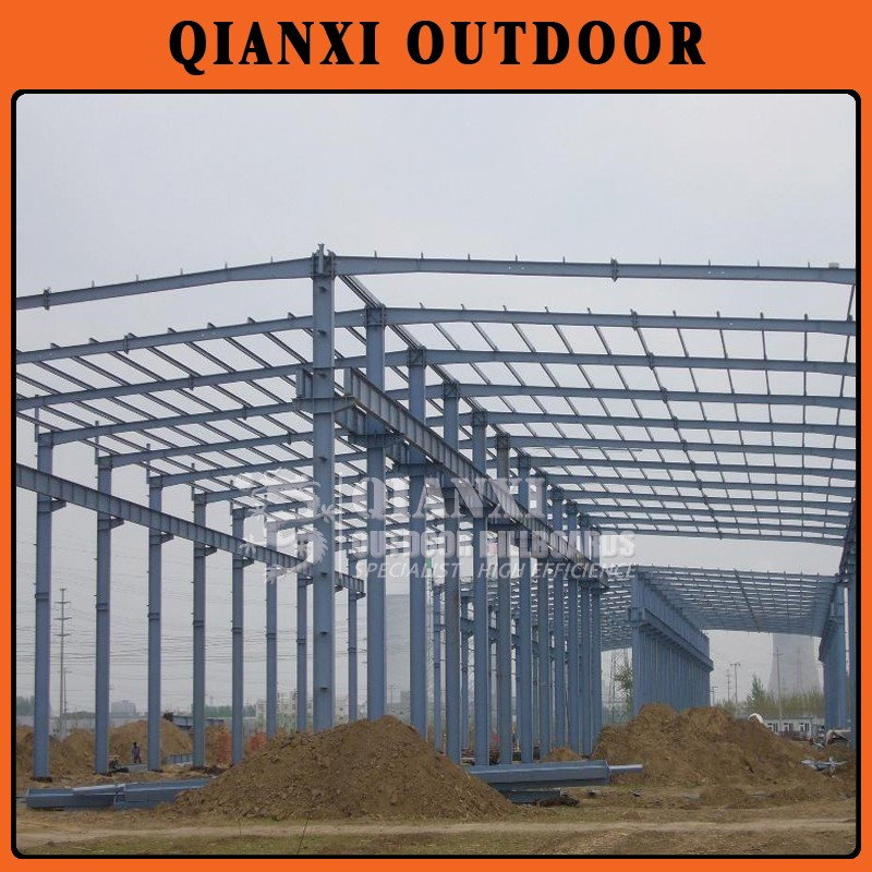 large size light steel parking steel structure/steel structure factory building