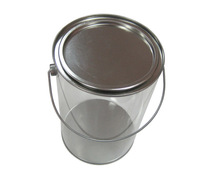 Hot Sale Round Metal Bucket With Handle Cosmetic Tin Can