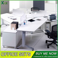 120 degree metal leg office workstation