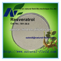 Pure natual grape skin extract resveratrol 20% 50%85% 90%98% 99% by HPLC
