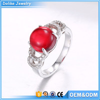Finger ring ball ruby zircon rings fashion women rings