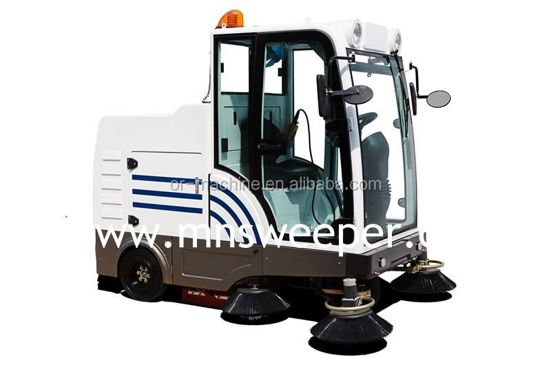E800ld asphalt road vaccum electric broom sweeper electric for Industrial concrete floor cleaning machines