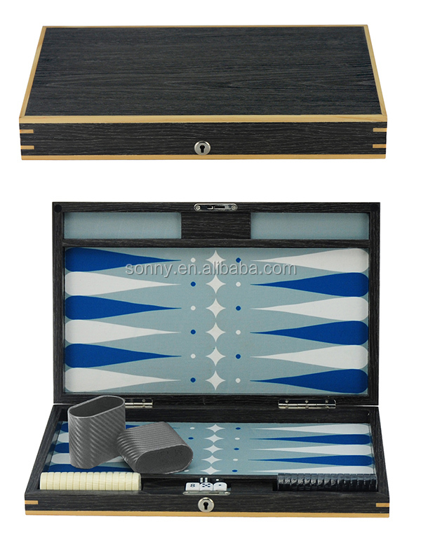 2017 Private Custom Wooden Lacquer Backgammon with Chips and Dices Set