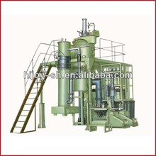 Bottom pouring vacuum induction melting and casting furnace vertical type